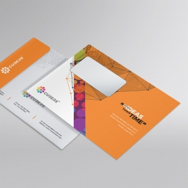 Colorful Business B5 Envelope With Abstract