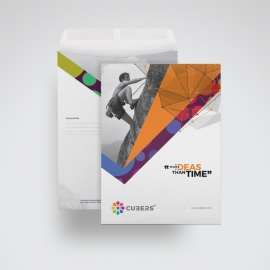 Colorful Business C4 Envelope Catalogue With Abstract