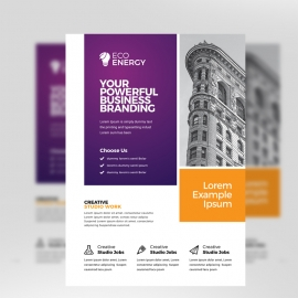 Colorful Business Flyer With Purple Accent