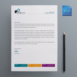 Colorful Business Letterhead