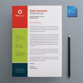 Colorful Business Letterhead Design