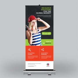 Colorful Business Roll-Up Banner