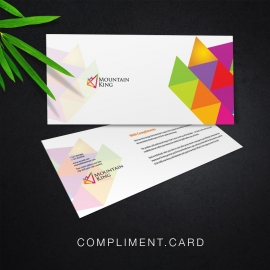 Colorful Compliment Card With Triangle