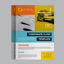 Colorful Corporate Business Flyer