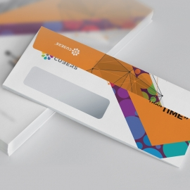 Colorful DL Envelope Commercial With Abstract Background