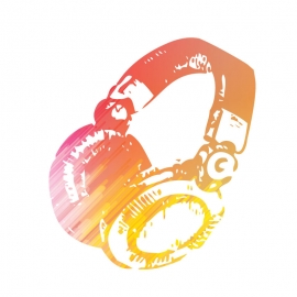 Colorful Headphones Icon