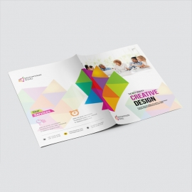 Colorful Presentation Folder With Triangle
