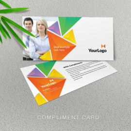 Colorful Triangle Compliment Card With Abstract