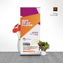 Colourful Abstract Rollup Banner