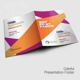 Colourful Presentation Folder With Abstract