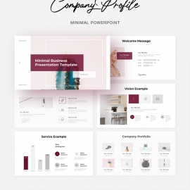 Company Profile Minimal Business PowerPoint