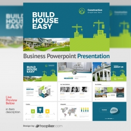 Construction Powerpoint Presentation With Building