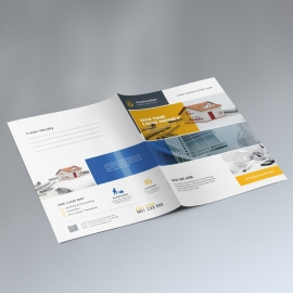 Construction Presentation Folder With Yellow Boxs