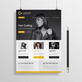 Corporate Beauty Salon Flyer