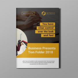 Corporate Bi-Fold Brochure With Orange Concepts