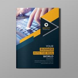 Corporate Bi-Fold Brochure With Orange Concepts