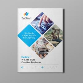 Corporate Blue Bi-Fold Brochure