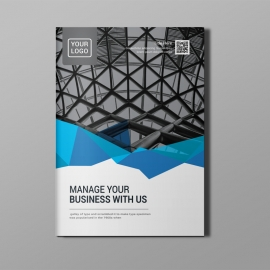 Corporate Blue Bi-Fold Brochure
