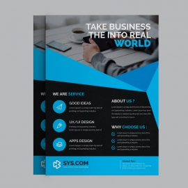 Corporate Blue Business Flyer
