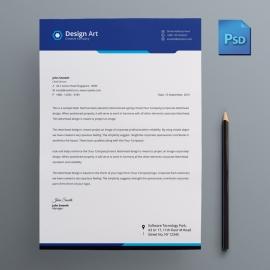 Corporate Blue Business Letterhead