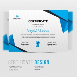 Corporate Blue Certificate Design
