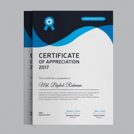 Corporate Blue Certificate Design