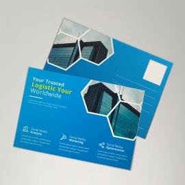 Corporate Blue Postcard