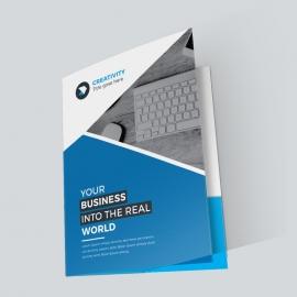 Corporate Blue Presentation Folder