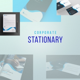 Corporate Blue Stationary