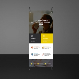 Corporate Boxs Rollup Banner