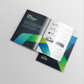 Corporate Business BiFold Brochure With Black Accent