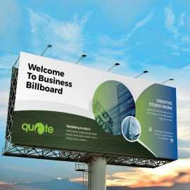 Corporate Business Billboard Banner With Cricle