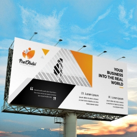 Corporate Business Billboard Banner With Triangle