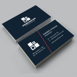 Corporate Business Card With Black Concept