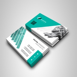 Corporate Business Card With Paste Accent