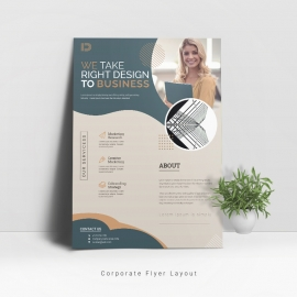 Corporate Business Flyer Layout