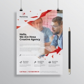 Corporate Business Flyer Minimal Red Color