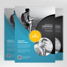 Corporate Business Flyer Paste & Black Accent
