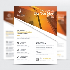 Corporate Business Flyer PSD File