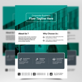 Corporate Business Flyer Template with Paste Elemens