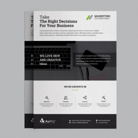 Corporate Business Flyer With Blue Concepts