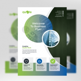 Corporate Business Flyer With Cricle