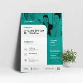 Corporate Business Flyer With Paste Accent
