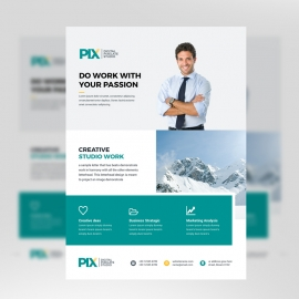 Corporate Business Flyer With Patse Accent