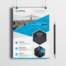 Corporate Business Flyer With Polygon Shape