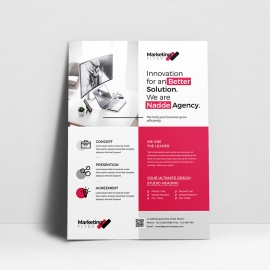 Corporate Business Flyer With Red Accent