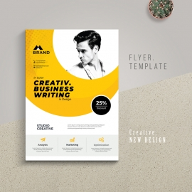 Corporate Business Flyer Yellow Accent