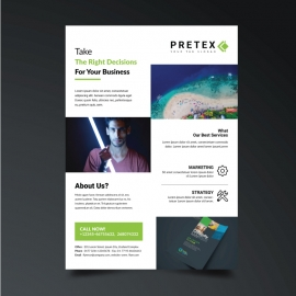 Corporate Business Green Flyer