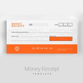 Corporate Business Money Receipt