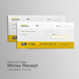 Corporate Business Money Receipt